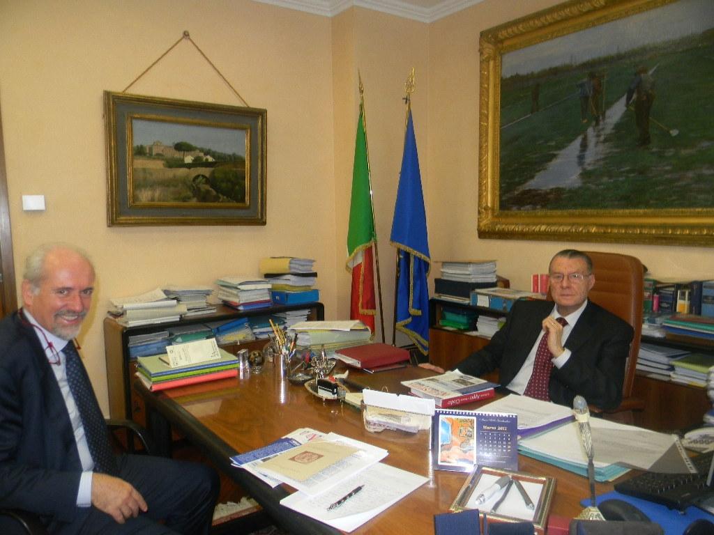 L'avv. Romolo  Reboa,  ha  incontrato  il  Presidente  della  Corte d'Appello di Roma,  Giorgio Santacroce.